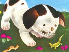 vicious dog, lizard