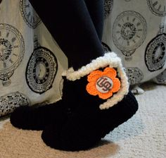 San Francisco Giants Slipper Socks by uniquelyyourscouture on Etsy