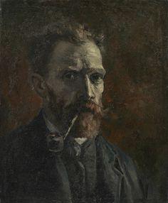 Self-Portrait with Pipe, 1886, Vincent van Gogh, Van Gogh Museum, Amsterdam (Vincent van Gogh Foundation)
