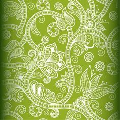 Free Seamless Floral Vector Background 1