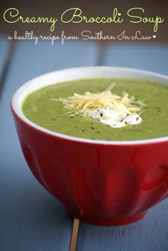 Healthy Creamy Broccoli Soup Recipe - Gluten Free, Low Fat, Clean Eating Recipe soups can be drsinks, you know. Creamy Broccoli Soup Recipe, Broccoli Soup Recipes, Healthy Soup Recipes, Clean Eating Recipes, Real Food Recipes, Vegetarian Recipes, Healthy Eating, Cooking Recipes, Broccoli Dip