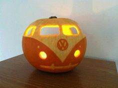 Awesome VW Bus pumpkin!
