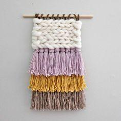 Fiber Weaving, Woven Wall Hanging, Nursery Decor, Fiber Art by EastParlor on Etsy