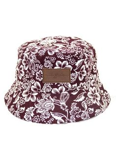 67493c6dab03 Items similar to Genuine By Anthony Burgandy Hawaiian Floral Bucket Hat on  Etsy