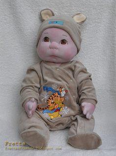 Life size 22 tall Soft Sculptured Baby Boy by FrettasLovableDolls, $150.00