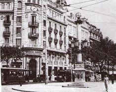 Banca Arnús, y principio de las Ramblas, 1910.- LA BARCELONA D'ABANS, D'AVUI I DE SEMPRE ..