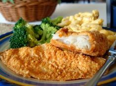 Baked Parmesan Fish. Used the same breading ingredients for fried zucchini as a side and it was delicious!