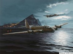 Raid on the Rock - Tribute to the Crews of the Regia Aeronautica by Ivan Berryman.  The only four engined heavy bomber to serve with the Regia Aeronautica, the Piaggio P.108 was built in too few numbers to have any significant effect in the Italian air campaign in World War Two, but was a worthy aircraft with several innovative design features, not least the remotely controlled gun barbettes in the outer engine nacelles. Most notable of the P.108's achievements were a number of daring night…