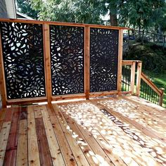 Outdoor Privacy Panels, Privacy Fence Designs, Privacy Screen Outdoor, Privacy Landscaping, Backyard Patio Designs, Deck Privacy Screens, Patio Decks, Outdoor Decking, Exterior