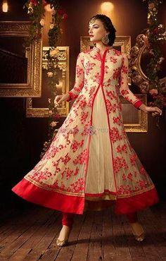 #Modernanarkali design #salwarkameez suit with allurring work #designersandyou