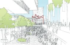 Winner of Parramatta Square Design Competition Announced / Parramatta Square Design Competition - Twin towers featuring 'public space in the sky' by Johnson Pilton Walker / Sydney, Australia