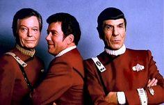 DeForest Kelley, William Shatner & Leonard Nimoy