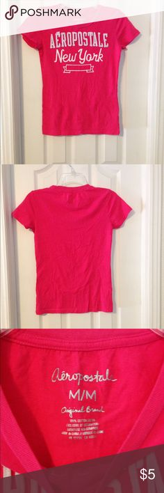 Aeropostale Tee Vibrant pink shirt with graphic print on the front. Shirt is in excellent condition only worn a few times. Has no stains, holes, major fading, or cracking in the lettering. Ready for a new home. Bundle and Save 25% Aeropostale Tops Tees - Short Sleeve