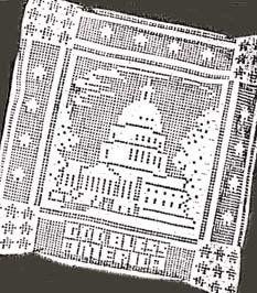 Laura Wheeler Filet Crochet Pattern GOD BLESS AMERICA Pillow & Panel