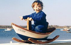 Dory boat - wooden toys - Rocking dory wooden toy boat - Home Decor -DIY - IKEA- Before After Modern Childrens Furniture, Wood Toys Plans, Wooden Baby Toys, Nautical Baby, Boat Design, Animal Heads, Dory, Canoe, Kids Toys