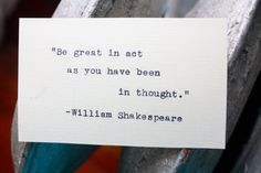 William Shakespeare quote typed on a vintage typewriter