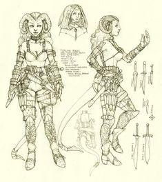 Tiefling Rogue Character Sheet by ghostfire.deviantart.com on @deviantART