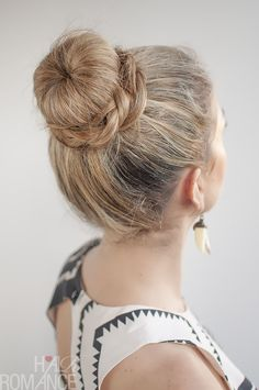 Hair Romance - 30 Buns in 30 Days - Day 11 - The Donut Bun and Braid Hairstyle