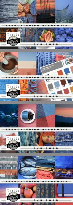 TREND - Indigo Alchemy Color Trend images and pantone colors for Spring/Summer 2018. Everything you need to create your own trend board, mood board or other presentation or product. 85 - Creative Commons CC0 Images - average size approximately 1200px x 1900px 4 - Pantone Color Palettes (CMYK - Coated) 4 - CMYK (Pantone Color Bridge) .aco files for each color palette
