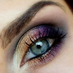 Awesome purple gold eye :)