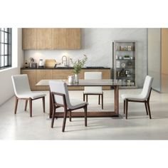 Modern luxury has never been easier than with the Zuo Modern Contemporary Hamilton Fabric Dining Side Chair - Set of 2 . The armless wooden frame features. White Dining Chairs, Dining Chair Set, Dining Room Chairs, Side Chairs, Dinning Table, Home Living, Living Room, Chair Design, Modern Contemporary