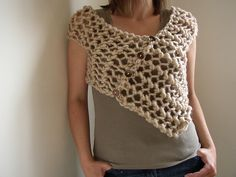 Ravelry: Ponchette pattern by Siobhan Brown - this woman has stolen my heart! I am loving her designs!