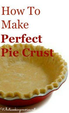 ** How To Make Good Pie Crust - 7 Recipe Variations! Pie Dessert, Dessert Recipes, Pie Crust Recipes, Pie Crusts, Types Of Pie, Perfect Pie Crust, Pavlova, Just Desserts, The Best