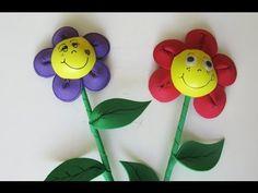 Adorno para fiestas - Flor de goma eva . Foamy flower