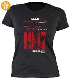 Alle Lieblingsmenschen werden gleich geschaffen die Besten wurden 1947  geboren: Jahrgangs/Geburtstagsshirt/Fun. PartnerLadiesWomanBlack