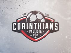 Corinthians Paulista by Brandon Williams, via Behance..soccer logo