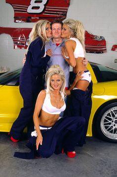 Dahm Triplets with Dale Jr Nascar Memes, Monster Energy Girls, Nascar Racing, Nascar Sprint, Auto Racing, Chevy Muscle Cars, Daytona 500, Cute Comfy Outfits, Dale Earnhardt Jr