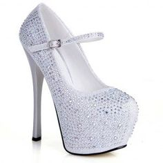 Gorgeous Rhinestones and Sexy High Heel Design Women's Pumps
