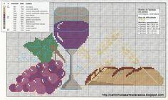 Olá amoreees! Boa tarde a todos! Hoje quero mostrar, o meu mais recente trabalho! Este trilho e centro de mesa da Santa Ceia! Muito... Hama Beads, Cross Stitch, Kitchen Items, Cross Stitch Borders, Embroidery Patterns, Ribbon Embroidery, Crochet Curtains, Tablecloths, Flower Chart