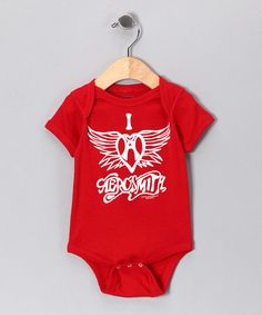 Red 'I Heart Aerosmith' Bodysuit - Infant by Rock Band: Tees & Bodysuits