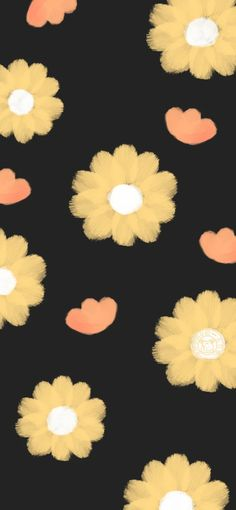 Wallpaper Backgrounds, Iphone Wallpaper, College Notes, Red Daisy, Flowers, Vera Bradley, Instagram, Random, Black