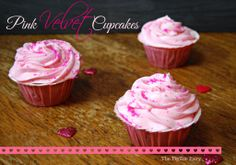 Pink Velvet Cupcakes | The TipToe Fairy