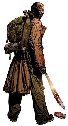 """Chris Weston - Diseño de personaje de """"Book of Eli"""""""