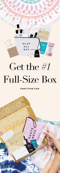 Full size products valuved over $200+ all in one box for only $50/season! WOW