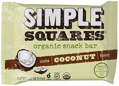 Simple Squares Organic Snack Bar, Coconut