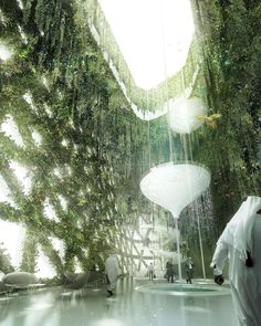 Hotel in Dubai, by Stöermer Murphy + Partners visualization by Bloomimages Green Architecture, Futuristic Architecture, Landscape Architecture, Landscape Design, Architecture Design, Architecture Visualization, 3d Visualization, Architecture Drawings, Future Buildings