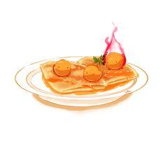 燃え盛るセルフィーユが味のポイントです
