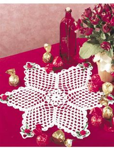 "Free pattern for ""Valentine Star Doily""!"