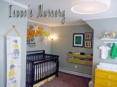 yellow and grey nursery inspiration Baby Boy Rooms, Baby Boy Nurseries, Baby Bedroom, Kids Rooms, Kids Bedroom, Nursery Room, Nursery Decor, Nursery Ideas, Nursery Rhymes