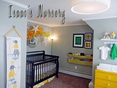 Nursery Decorating Ideas: Gray and Yellow Elephants