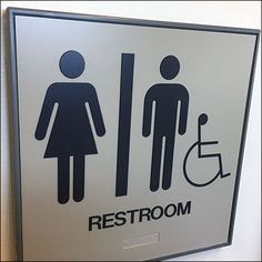 Normally I try to report the facts and not read into fixture design. But more inquiring minds might question this Unisex Restroom With Handicapped Sidebar Close Up, Unisex, This Or That Questions, Reading, Word Reading, Reading Books, Libros