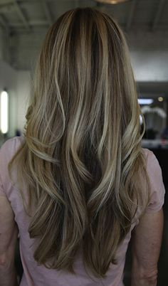Love blonde highlights with a dark brown base