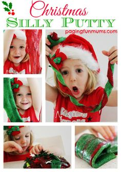 Christmas Silly Putty... the ultimate activity for the holidays!
