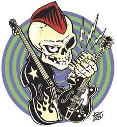 Psychobilly: Es la mezcla del punk rock con el rockabilly. Algunos grupos representativos son The Cramps, Quakes, The Meteors y Nekromantix.