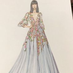Sparkling ✨ time with Marchesa dresses Source by sinthirath dress sketches Wedding Dress Sketches, Dress Design Sketches, Fashion Design Drawings, Fashion Sketches, Dress Illustration, Fashion Illustration Dresses, Fashion Drawing Dresses, Drawing Fashion, Dress Fashion