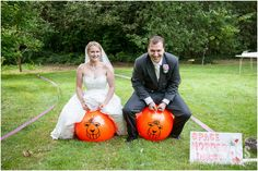 A space hopper race for a garden wedding, love this idea!